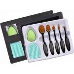 Σετ Πινέλων Μακιγιάζ 7 Τεμαχίων Oval Brush Set & Beauty Blender Sponge