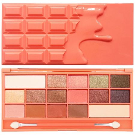 MakeUp Revolution Ι Heart Chocolate and Peaches 16 Shimmer and Matte Eyeshadows
